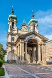 Kerk van Johannes Nepomuk in Innsbruck - Oostenrijk Stock Foto's
