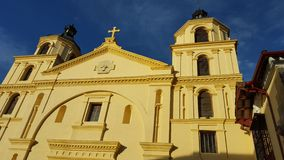 Kerk van La Candelaria (Bogota - Colombia) stock foto's