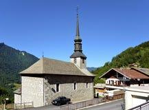 Kerk van La Forclaz in Frankrijk royalty-vrije stock foto's