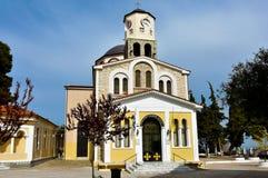 Kerk van Maagdelijke Mary Panagia in Kavala Stock Afbeelding