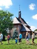 Kerk van Matczyn, Polen Stock Foto's