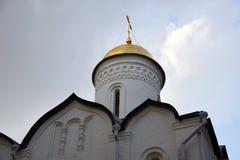 Kerk van Moskou het Kremlin De Plaats van de Erfenis van de Wereld van Unesco stock foto's