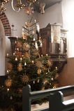 Kerk van Nebel op Amrum Stock Foto