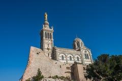 Kerk van Notre Dame de la Garde, Marseille, Frankrijk Stock Foto