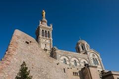 Kerk van Notre Dame de la Garde, Marseille, Frankrijk Stock Fotografie