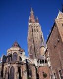 Kerk van Onze Dame, Brugge, België. royalty-vrije stock fotografie