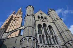 Kerk van Onze Dame in Brugge, België stock foto's