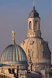 Kerk van onze dame in Dresden Stock Foto