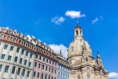 Kerk van onze Dame (Frauenkirche) in Dresden Royalty-vrije Stock Foto