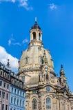Kerk van onze Dame (Frauenkirche) in Dresden Royalty-vrije Stock Afbeeldingen