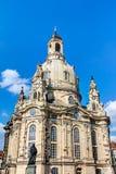 Kerk van onze Dame (Frauenkirche) in Dresden Stock Afbeeldingen