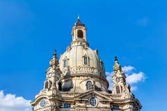 Kerk van onze Dame (Frauenkirche) in Dresden Royalty-vrije Stock Fotografie
