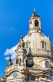 Kerk van onze Dame (Frauenkirche) in Dresden Stock Fotografie