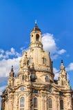 Kerk van onze Dame (Frauenkirche) in Dresden Stock Foto