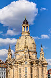 Kerk van onze Dame (Frauenkirche) in Dresden Royalty-vrije Stock Afbeelding
