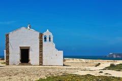 Kerk van Onze Dame van Gunst in de vesting van Sagres, Portugal royalty-vrije stock foto's
