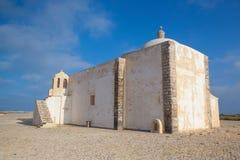 Kerk van Onze Dame van Gunst in Sagres Algarve, Portugal royalty-vrije stock foto