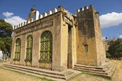 Kerk van Onze Dame Mary van Zion, de heiligste plaats voor alle Orthodoxe Ethiopiërs Aksum, Ethiopië Royalty-vrije Stock Foto's