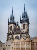Kerk van Onze Dame in Praag Stock Afbeelding