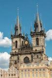 Kerk van Onze Dame vóór Týn stock afbeelding
