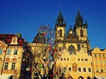 Kerk van Onze Dame vóór Tyn, Oude Stad, Praag stock fotografie