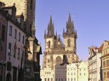Kerk van Onze Dame vóór Tyn, Praag Stock Foto
