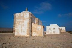 Kerk van Onze Dame van Gunst bij Sagres-Vesting, Algarve, Portuga stock afbeelding