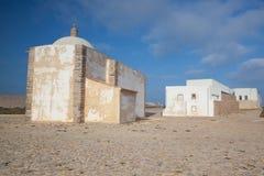 Kerk van Onze Dame van Gunst bij Sagres-Vesting, Algarve, Portuga stock foto's