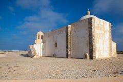 Kerk van Onze Dame van Gunst bij Sagres-Vesting, Algarve, Portuga royalty-vrije stock foto