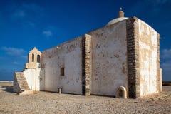 Kerk van Onze Dame van Gunst bij Sagres-Vesting, Algarve, Portugal royalty-vrije stock foto's