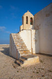 Kerk van Onze Dame van Gunst bij Sagres-Vesting, Algarve, Portugal stock foto