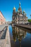 Kerk van onze redder op het gemorste bloed sainct Petersburg russ Stock Afbeelding
