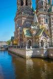 Kerk van onze redder op het gemorste bloed sainct Petersburg russ Royalty-vrije Stock Foto