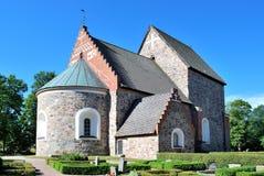 Kerk van Oud Uppsala stock foto's