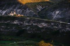 Kerk van Oude Orhei in straal van zonsondergang Royalty-vrije Stock Foto