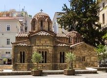 Kerk van Panaghia Kapnikarea, Athene stock fotografie