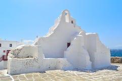 Kerk van Panagia Paraportiani, Mykonos Stock Foto's