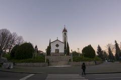 Kerk van Paredes DE Coura in Norte-gebied, Portugal stock afbeelding