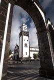 Kerk van Ponta Delgada - Sao Miguel Ponta Delga van de Azoren Portugal Royalty-vrije Stock Afbeelding
