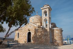 Kerk van Profitis Elias Stock Foto's