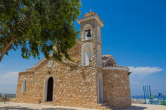 Kerk van Profitis Elias (Protaras, Cyprus) Stock Foto's