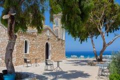 Kerk van Profitis Elias (Protaras, Cyprus) Stock Afbeelding