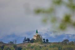 Kerk van Puig -puig-agut stock afbeeldingen