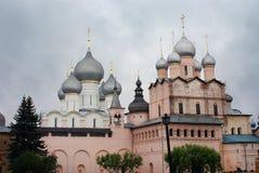 Kerk van Rostov het Kremlin, Yaroslavl-Gebied, Rostov Royalty-vrije Stock Foto's