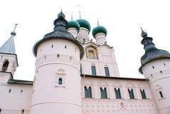 Kerk van Rostov het Kremlin, Yaroslavl-Gebied, Rostov Stock Foto