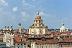 Kerk van S Lorenzo, Turijn, Italië Stock Foto's