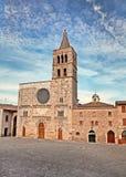 Kerk van S Michele Arcangelo in Bevagna, Italië Royalty-vrije Stock Foto