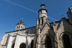 Kerk van Saint Paul in Bourdeaux, Frankrijk stock afbeelding