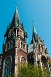 Kerk van sainted Elisabeth. Stock Afbeeldingen