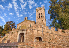 Kerk van San Lorenzo in Castagneto Carducci, Toscanië, Italië Royalty-vrije Stock Afbeelding